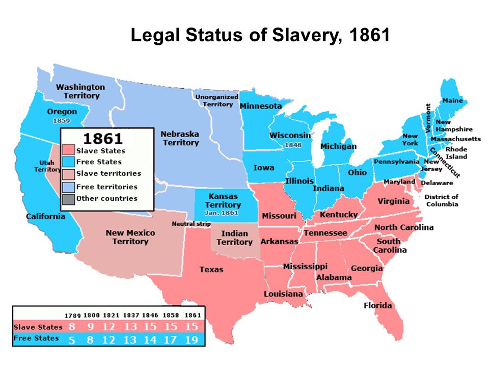 Legal Status of Slavery, 1861