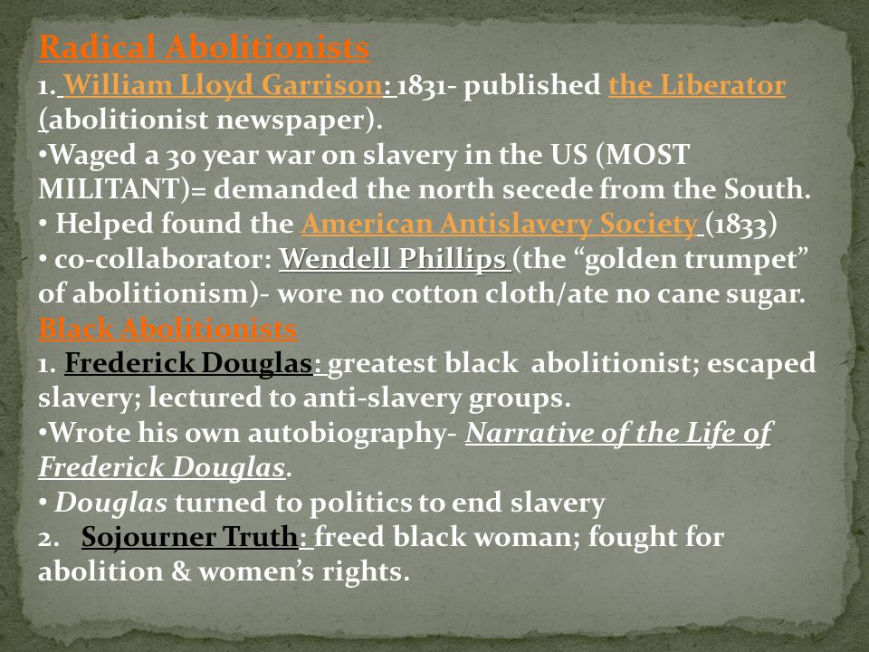 Radical Abolitionists