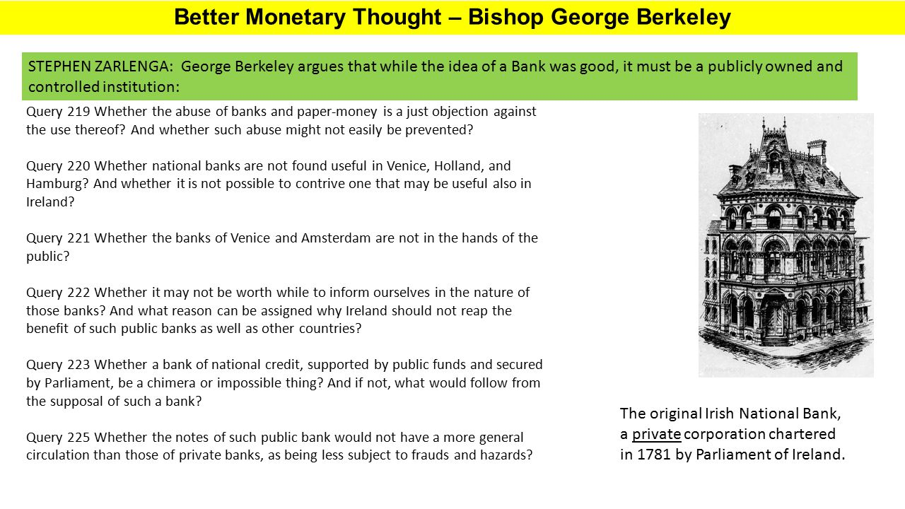 Better Monetary Thought – Bishop George Berkeley