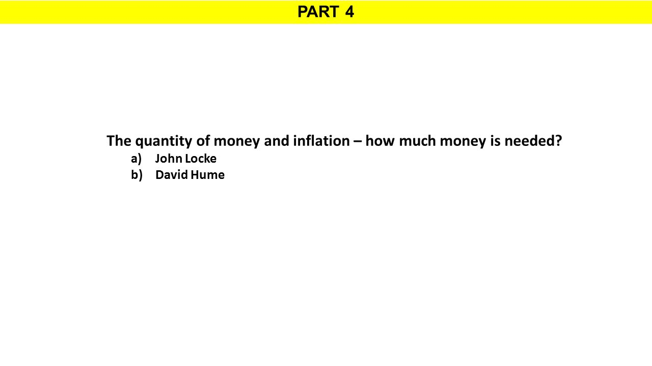 The quantity of money and inflation – how much money is needed
