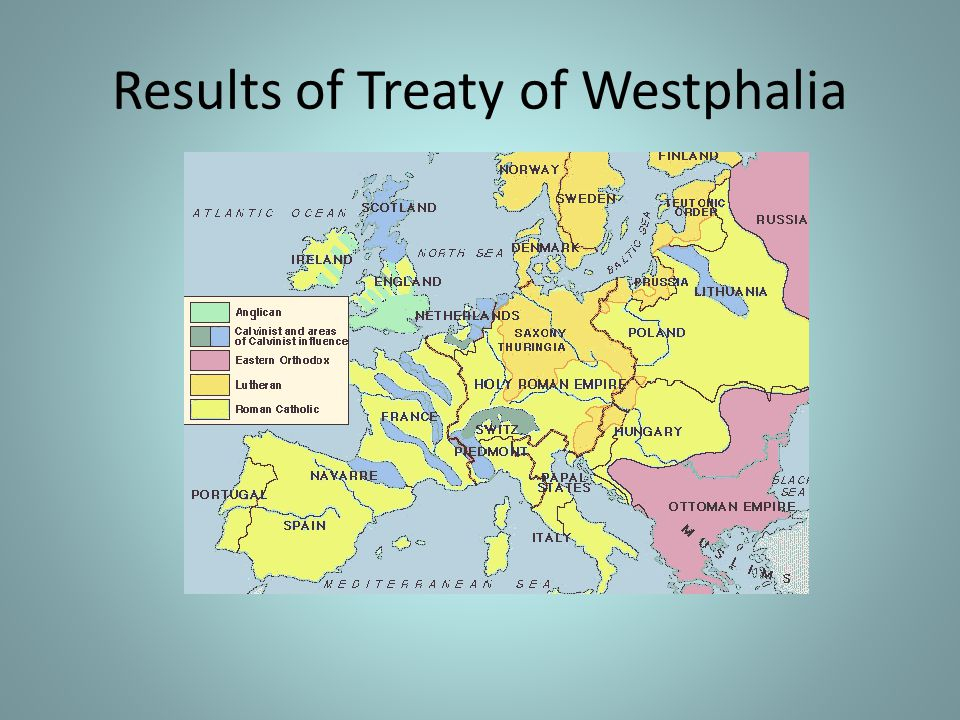 Results of Treaty of Westphalia