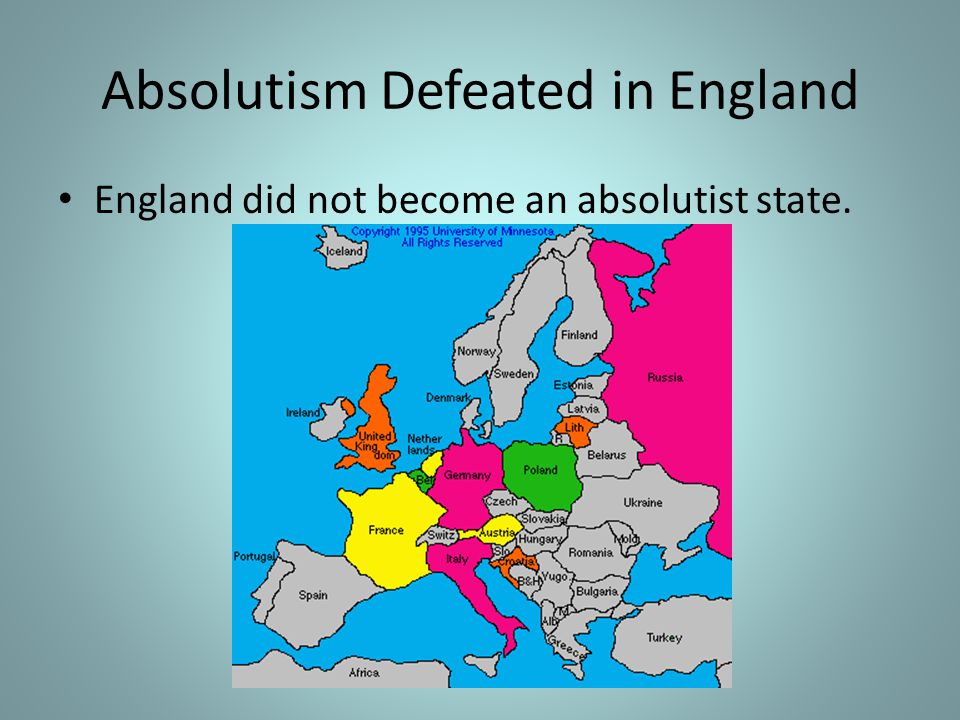 Absolutism Defeated in England