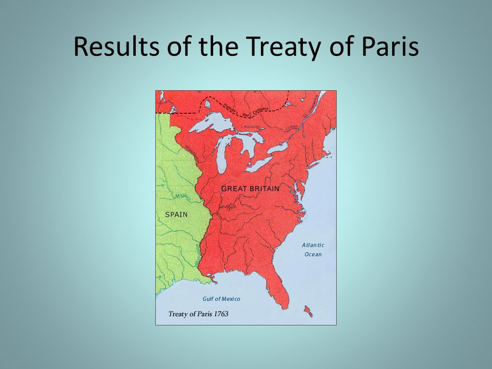 Results of the Treaty of Paris