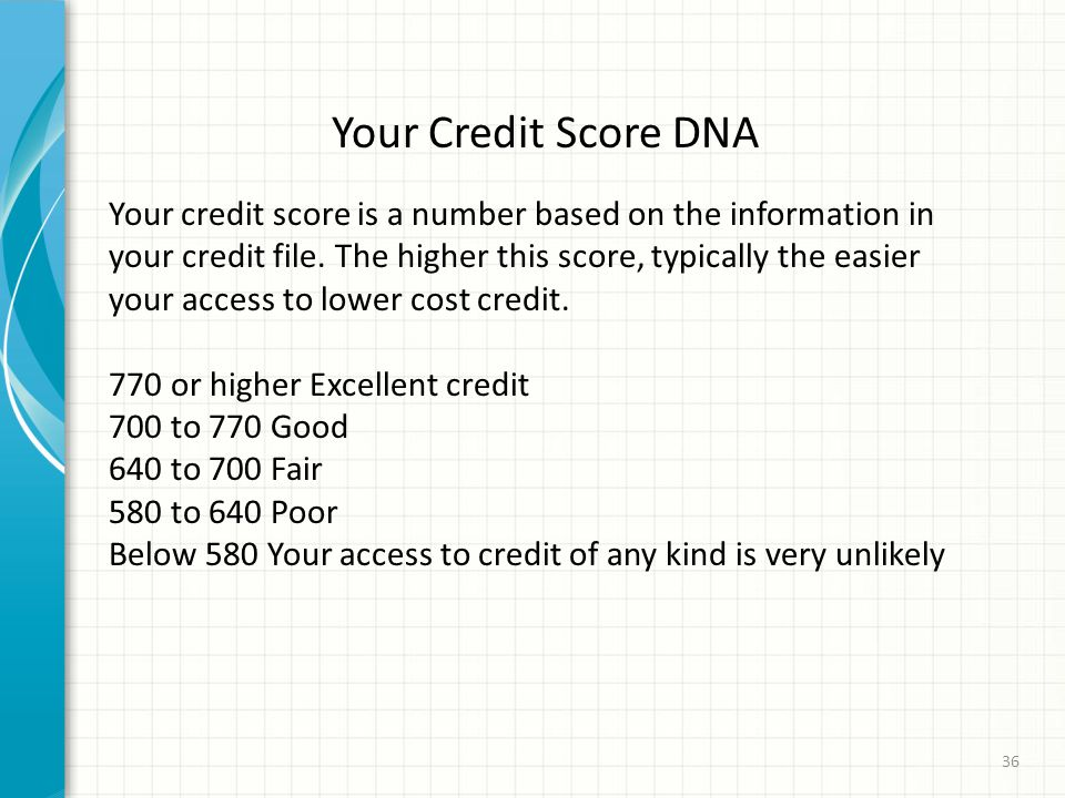 Your Credit Score DNA