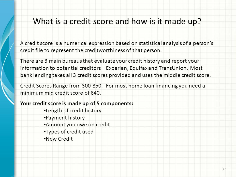 What is a credit score and how is it made up