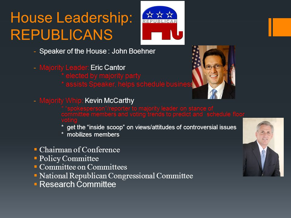 House Leadership: REPUBLICANS