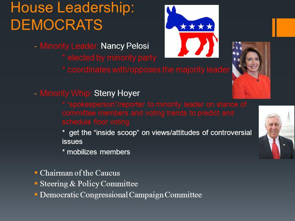 House Leadership: DEMOCRATS