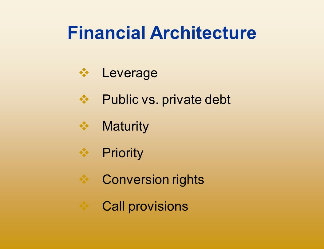 Financial Architecture
