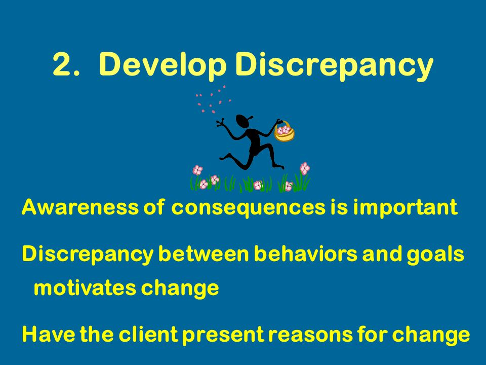 2. Develop Discrepancy Awareness of consequences is important