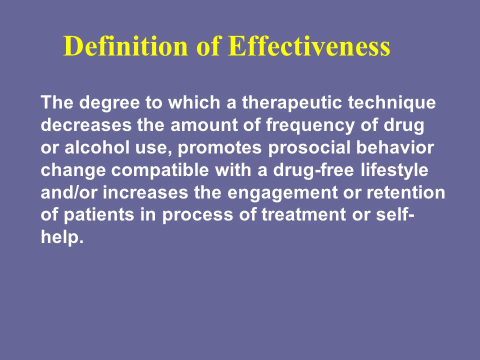 Definition of Effectiveness