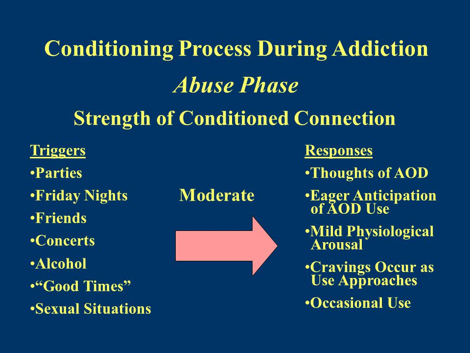 Abuse Phase Conditioning Process During Addiction