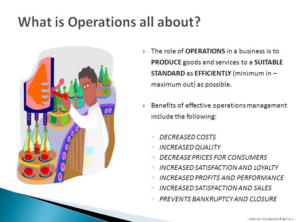 What is Operations all about