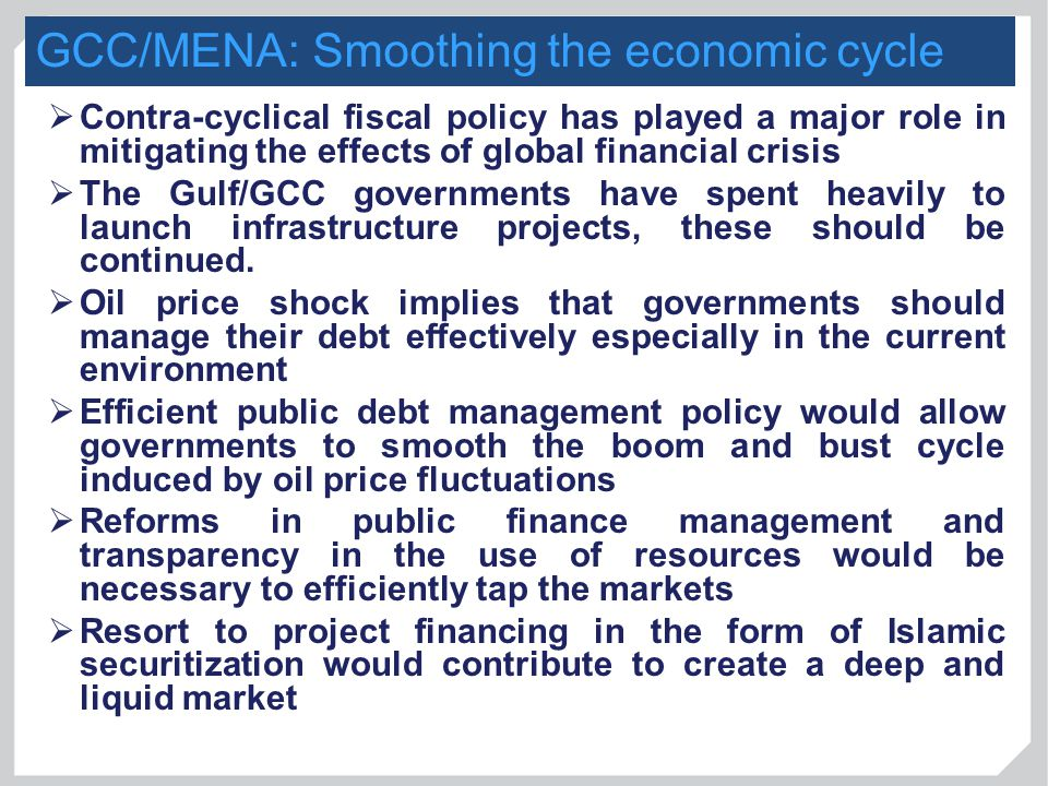 GCC/MENA: Smoothing the economic cycle