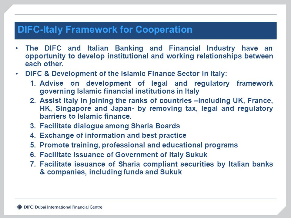 DIFC-Italy Framework for Cooperation