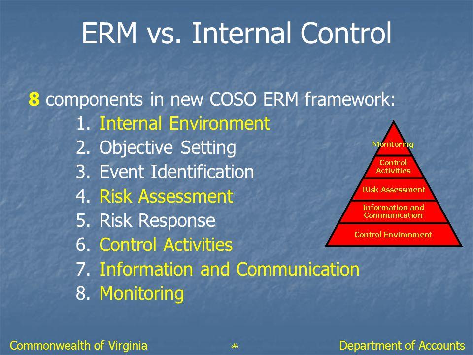 ERM vs. Internal Control