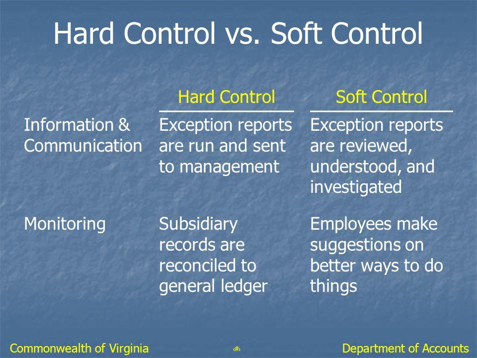 Hard Control vs. Soft Control