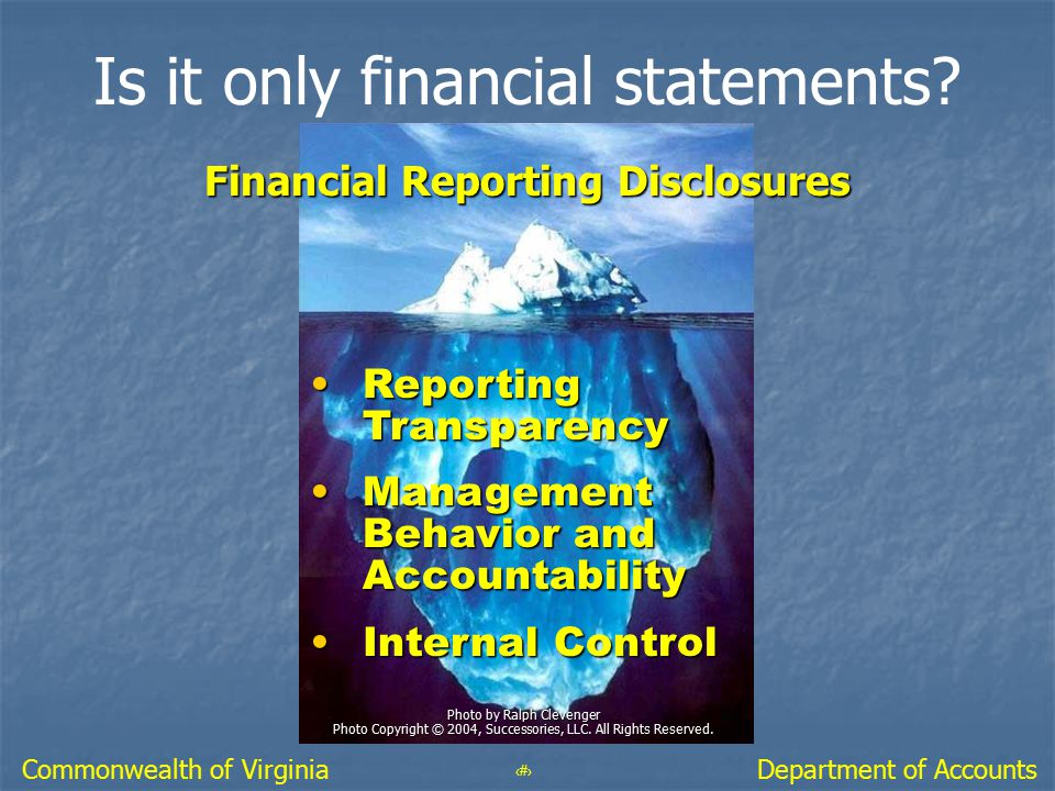 Is it only financial statements