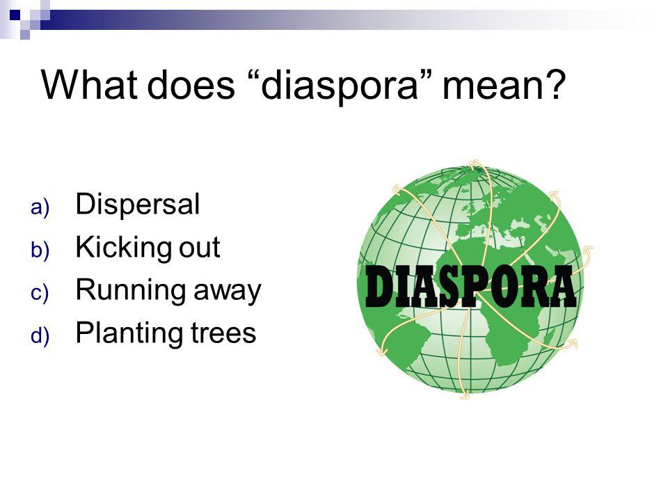 What does diaspora mean