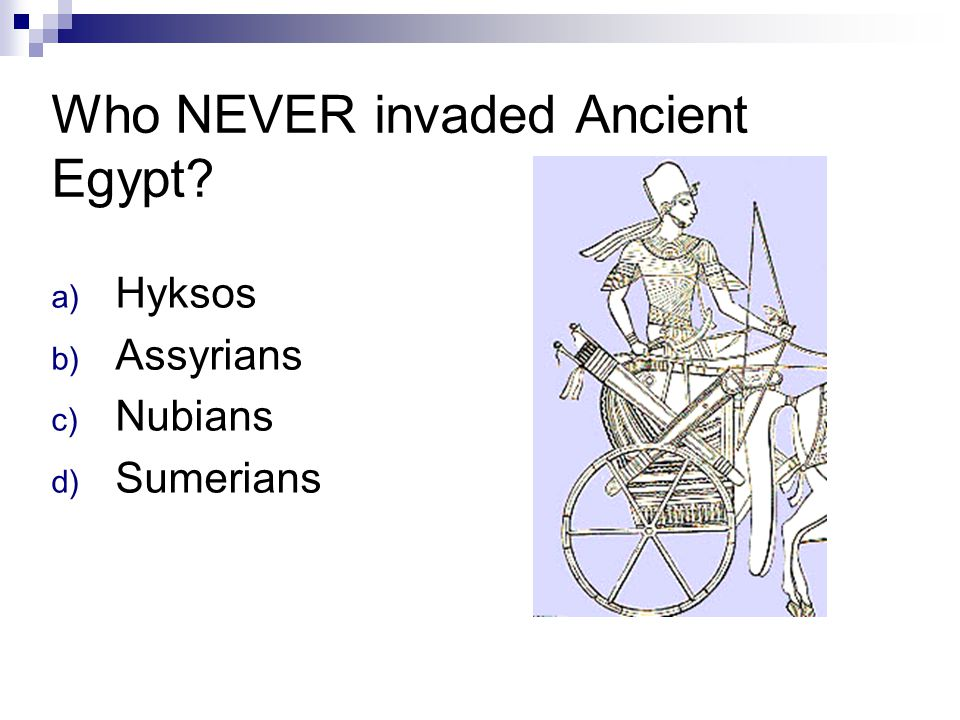 Who NEVER invaded Ancient Egypt