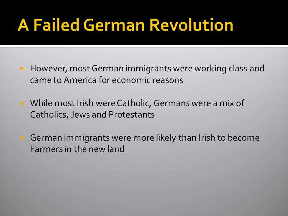 A Failed German Revolution