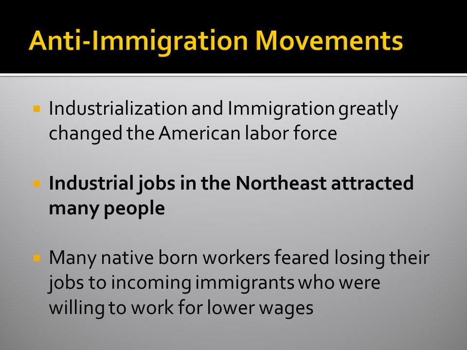 Anti-Immigration Movements