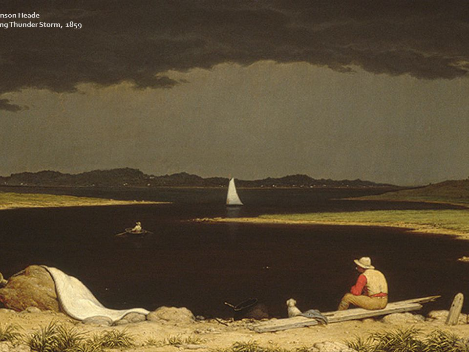 Martin Johnson Heade Approaching Thunder Storm, 1859