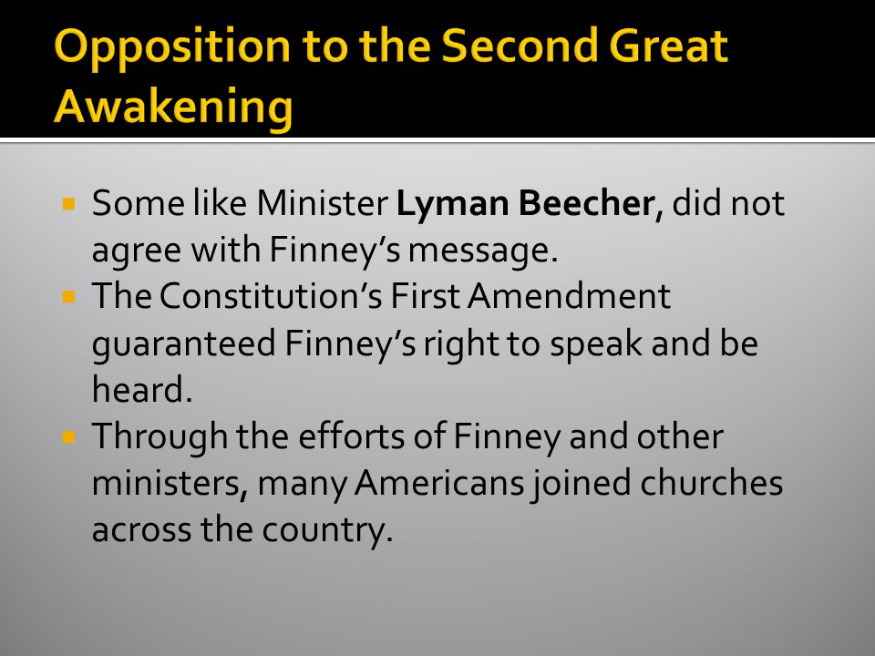Opposition to the Second Great Awakening