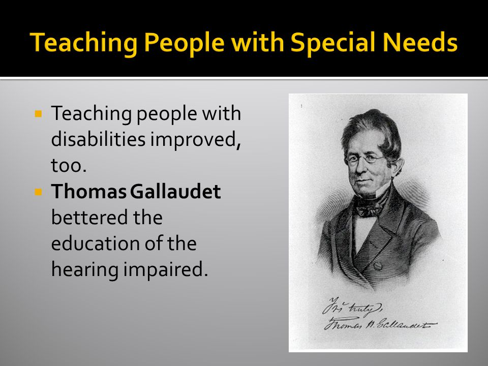 Teaching People with Special Needs
