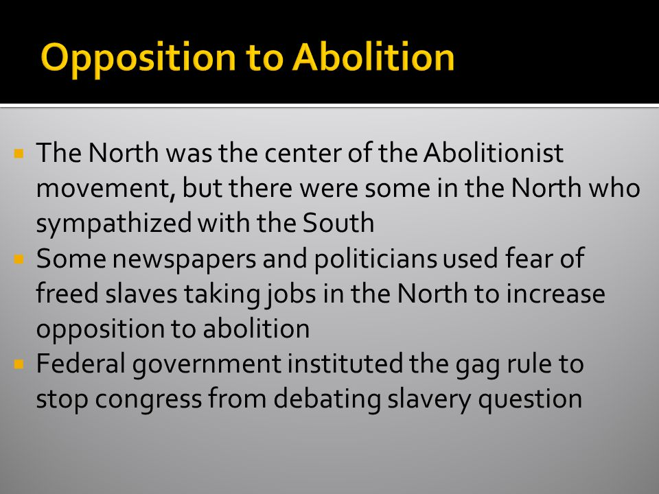 Opposition to Abolition