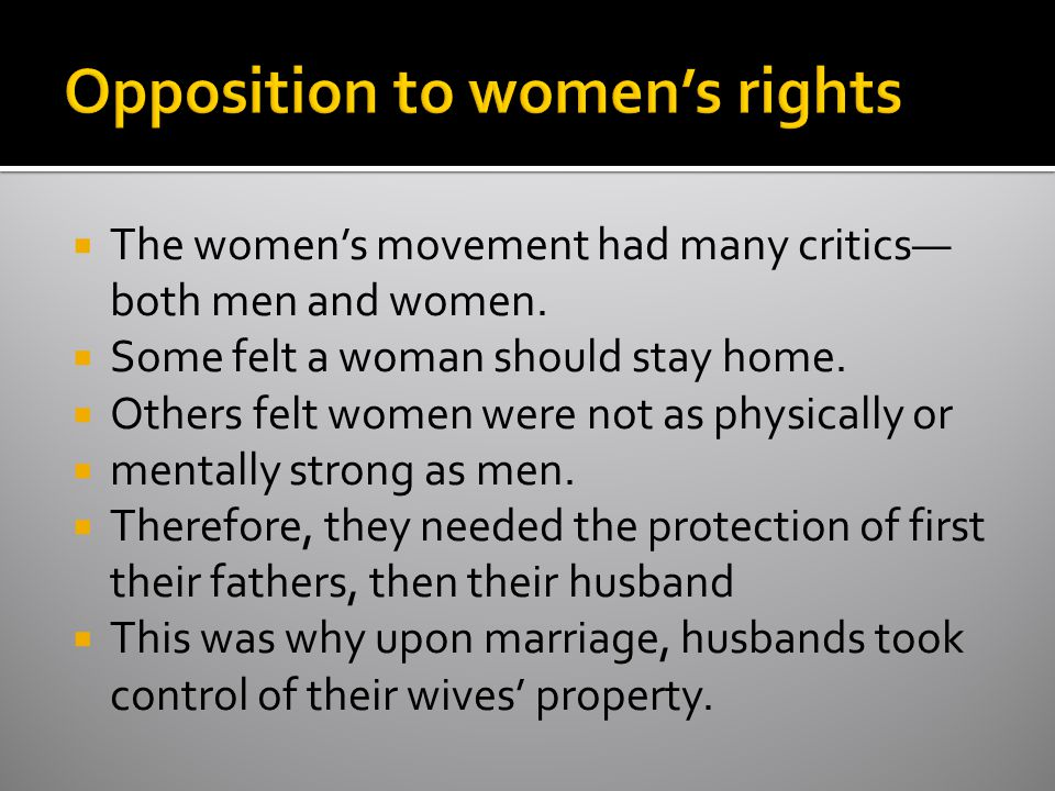 Opposition to women's rights