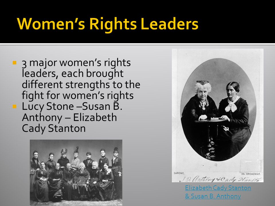 Women's Rights Leaders