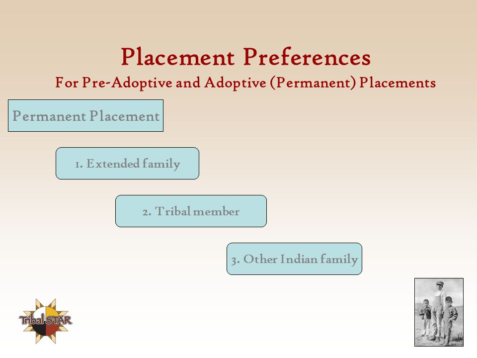 Placement Preferences For Pre-Adoptive and Adoptive (Permanent) Placements
