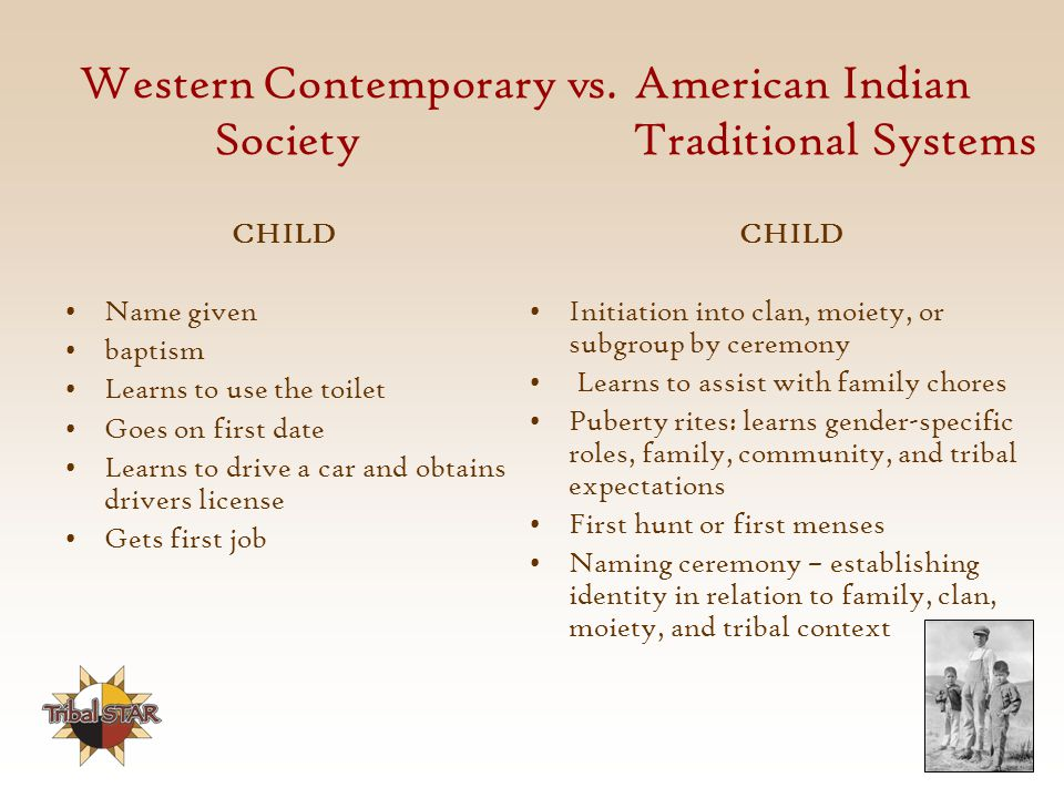 Western Contemporary vs. American Indian Society Traditional Systems