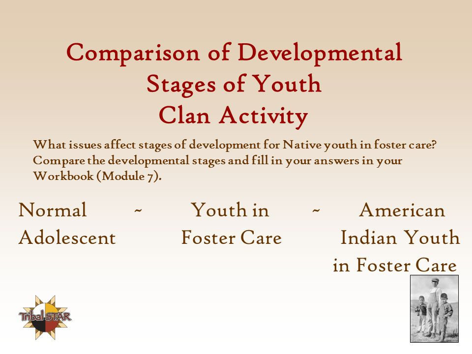 Comparison of Developmental Stages of Youth Clan Activity