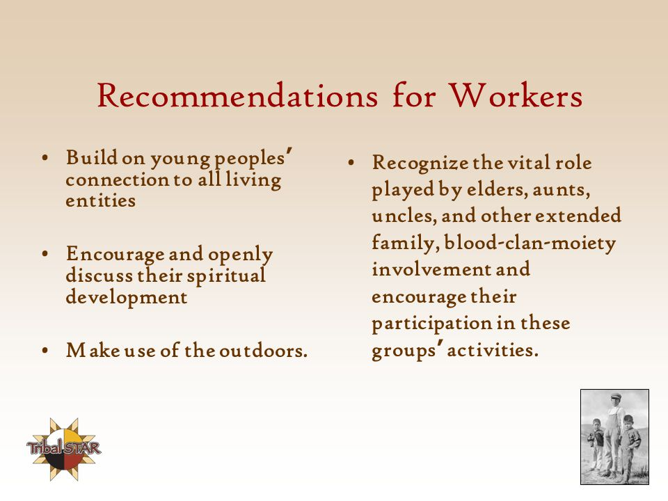 Recommendations for Workers