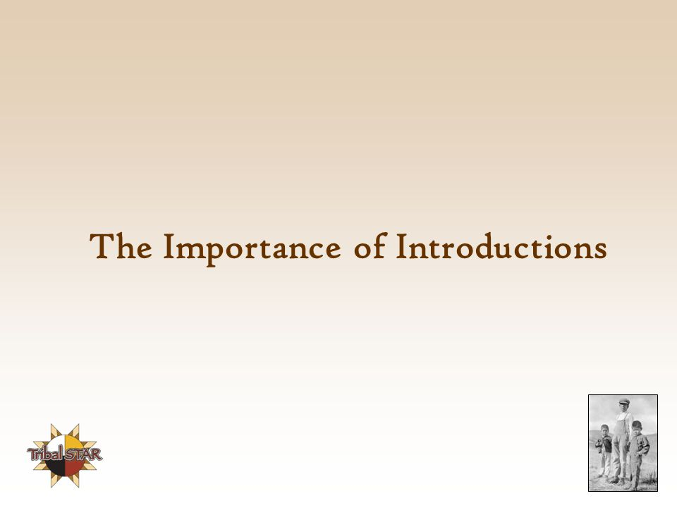The Importance of Introductions