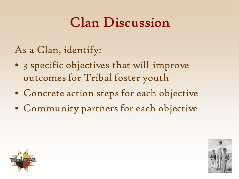 Clan Discussion As a Clan, identify: