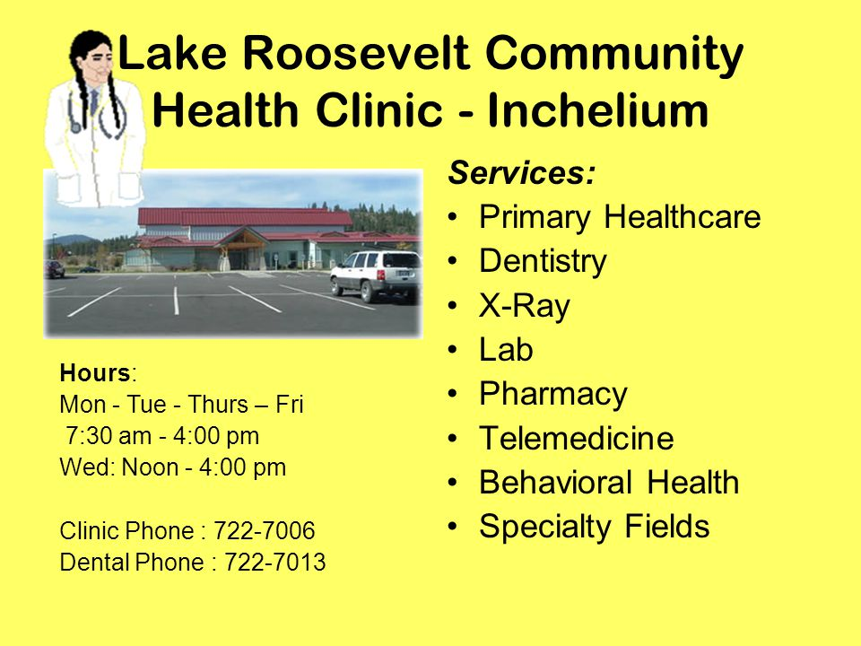 Lake Roosevelt Community Health Clinic - Inchelium