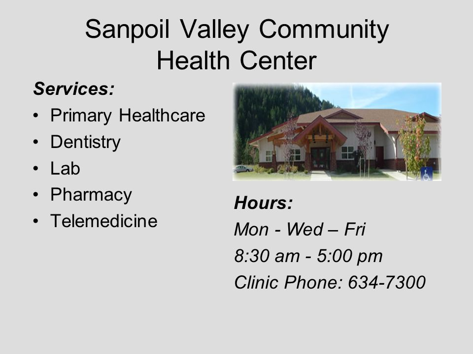 Sanpoil Valley Community Health Center