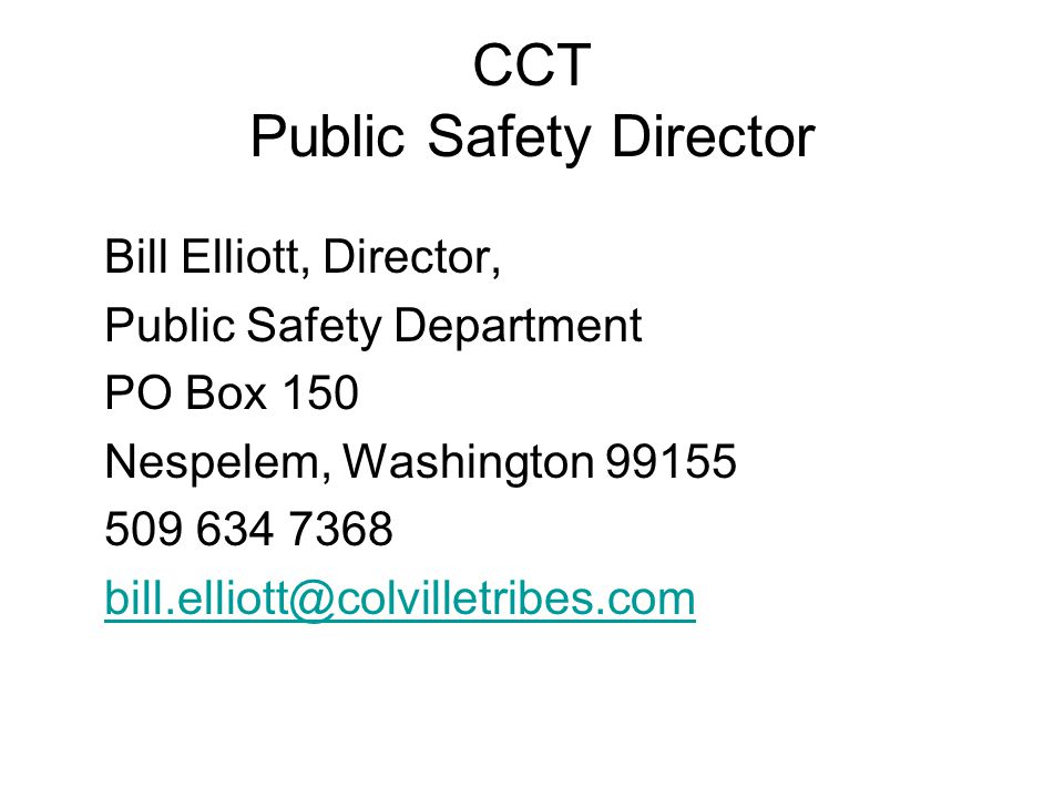 CCT Public Safety Director