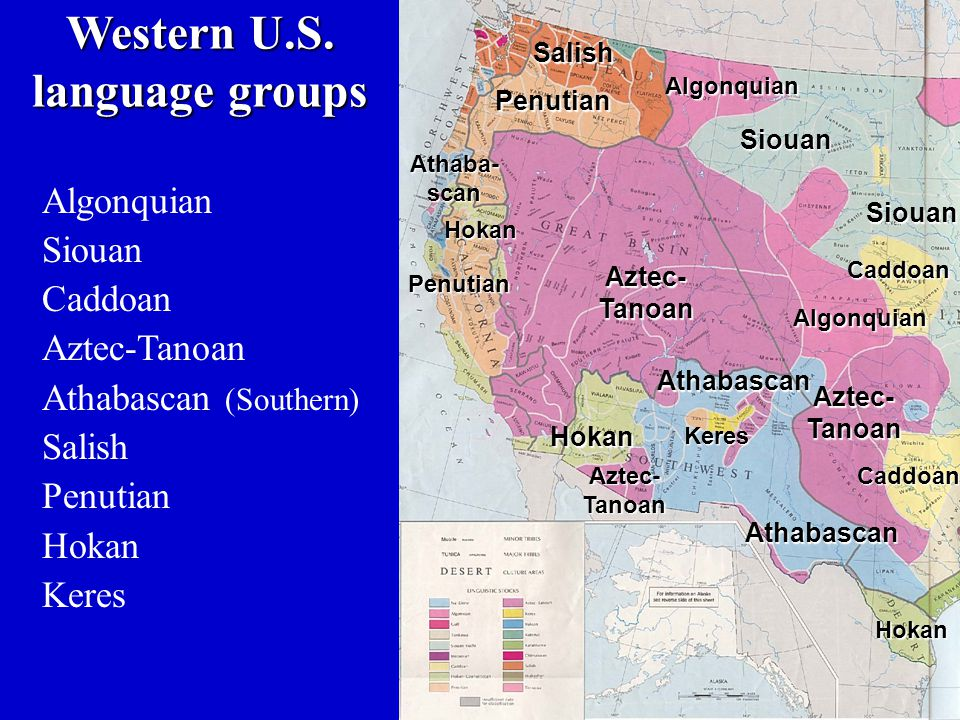 Western U.S. language groups