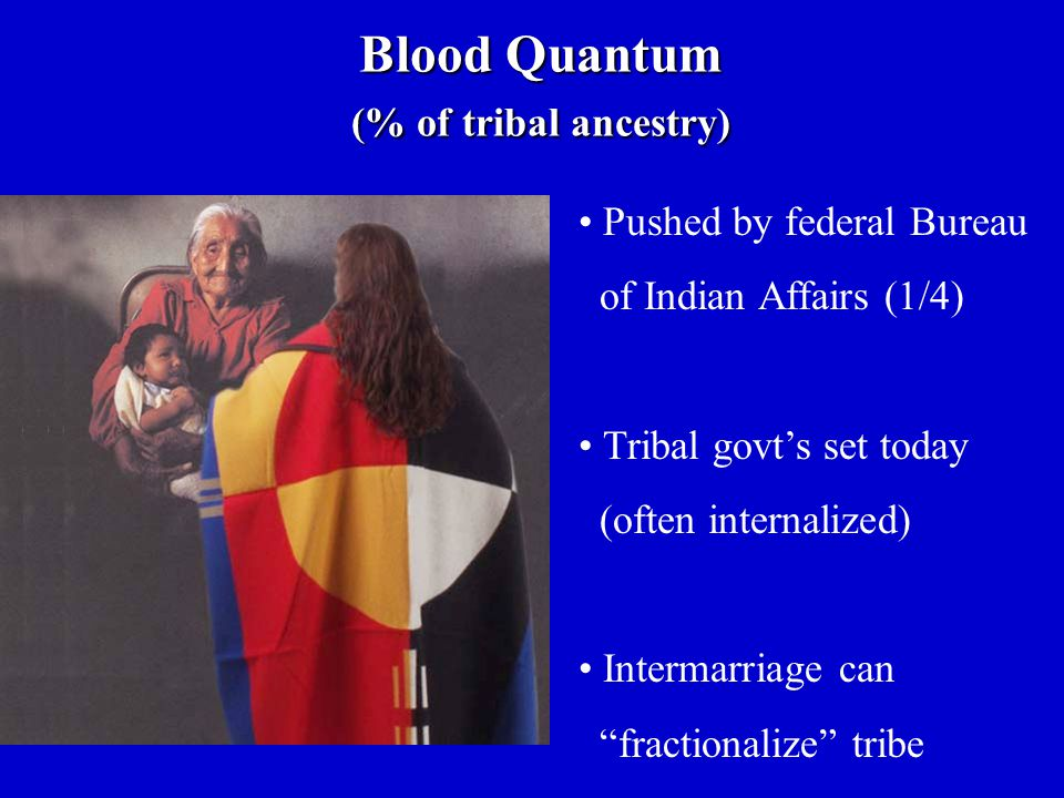 Blood Quantum (% of tribal ancestry)