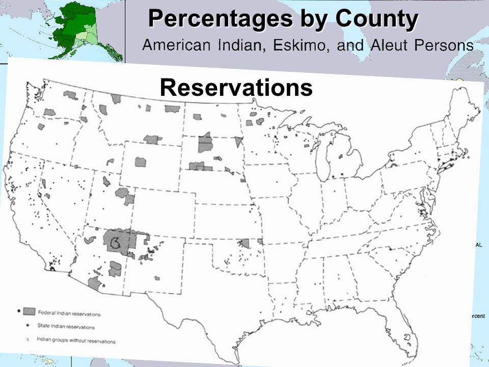 Percentages by County Reservations