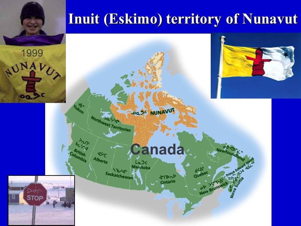 Inuit (Eskimo) territory of Nunavut