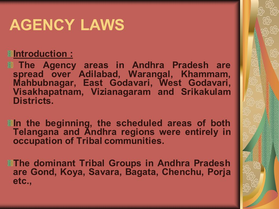 AGENCY LAWS Introduction :