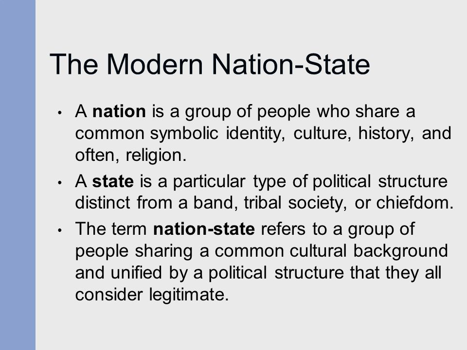The Modern Nation-State