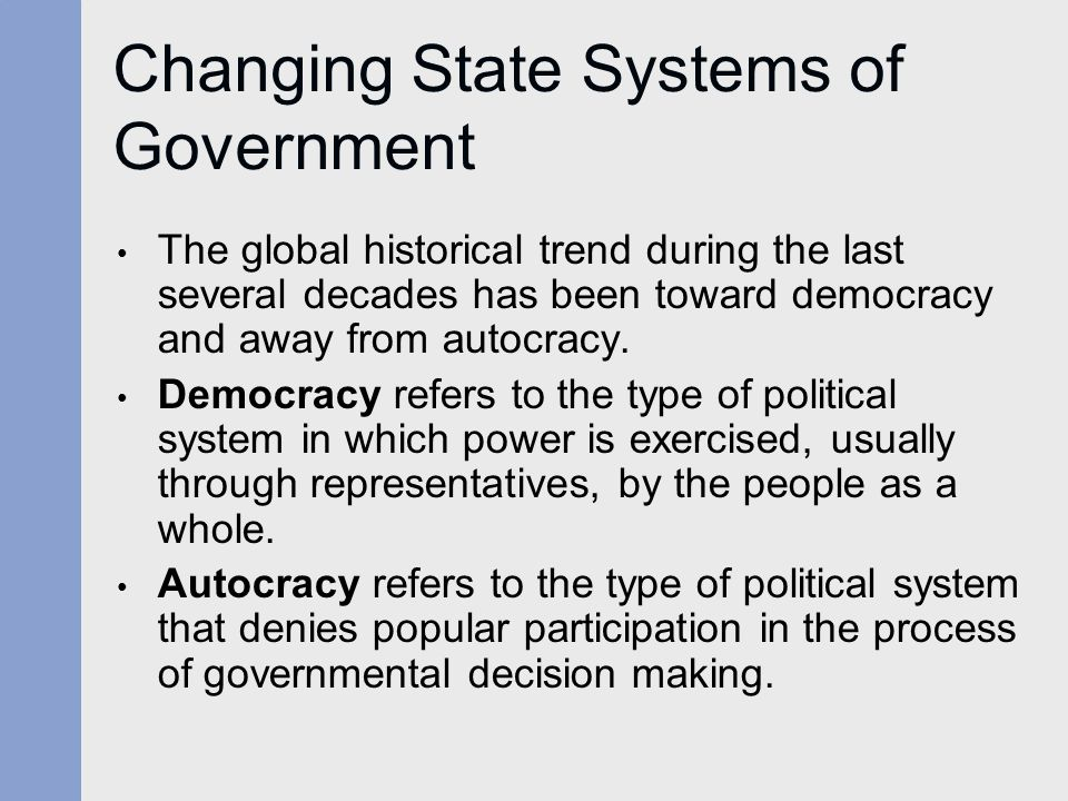 Changing State Systems of Government