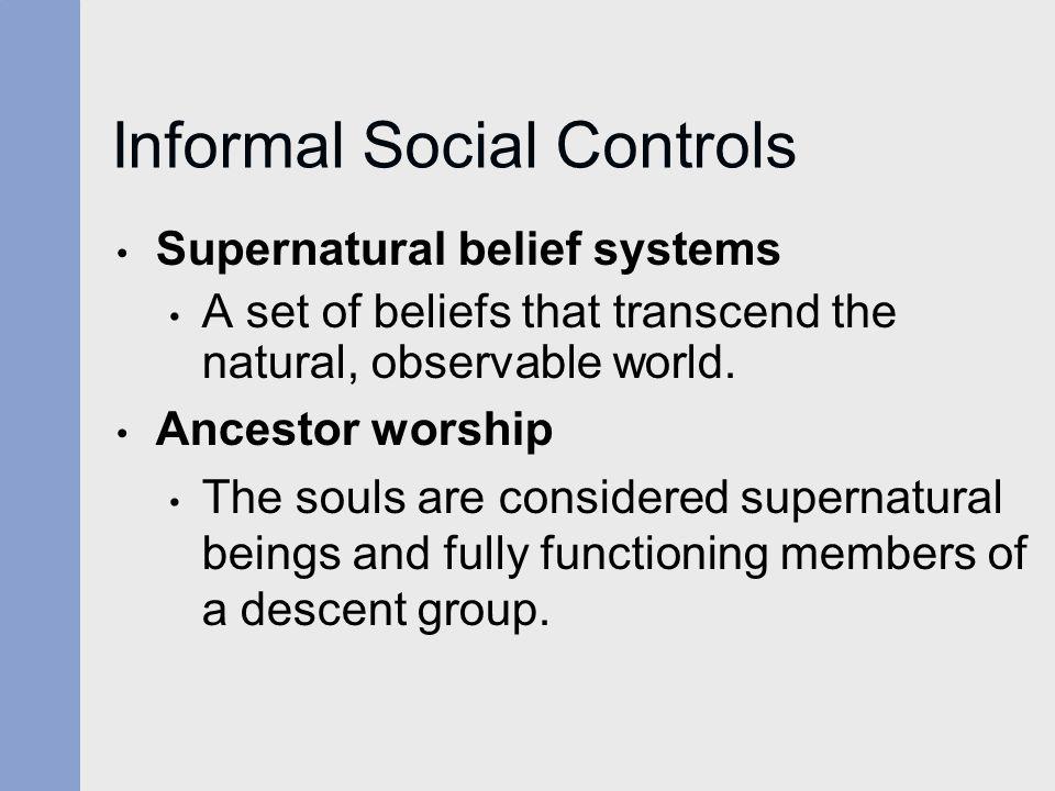 Informal Social Controls