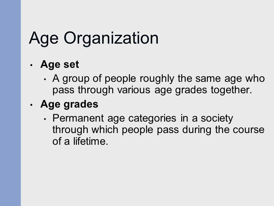 Age Organization Age set