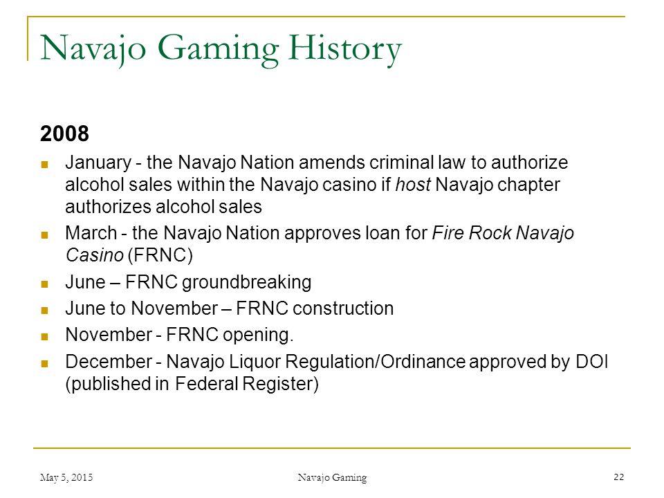 Navajo Gaming History 2008.